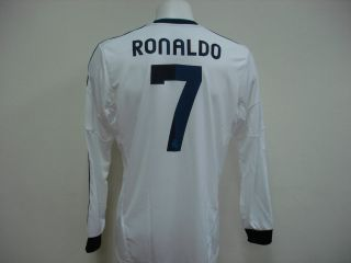 NEW ADIDAS REAL MADRID Home LONG SLEEVES 2012 13 Jersey + OFFICIAL