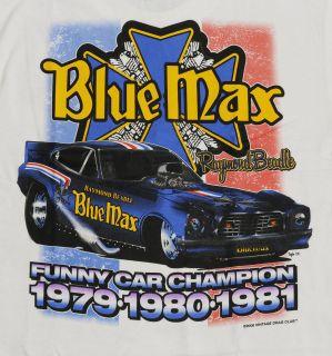 Vintage Drag Club T Shirts, Raymond Beadle, Blue Max Funny Car