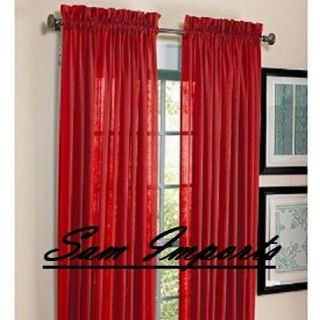 red curtains in Curtains, Drapes & Valances