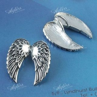 Newly listed 1 Strand 316L Stainless Steel Carved Angel Wing Pendant