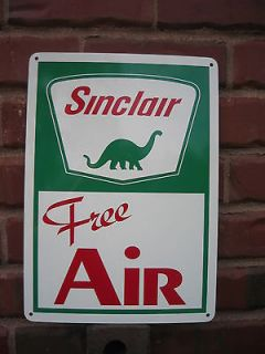 Sinclair Free Air Gas Pump Sign Gas Service Station Dino Garage