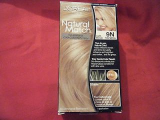 Kits Loreal Natural Match 9N Light Blonde Natural Color Hair coloring