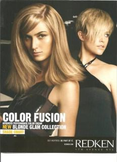 Redken Color Fusion Hair Color Shade Chart NEW 2010
