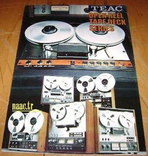 TEAC TASCAM 1986 OPEN REEL TAPE DECKS JAPAN A 3340S A 7030 A 3300S
