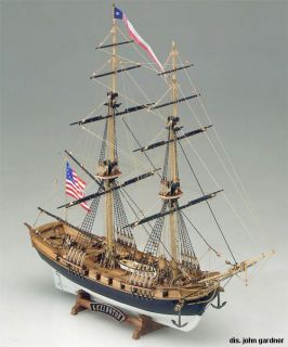 Lexington Armed Brigantine wood ship model kit NEW boat planking