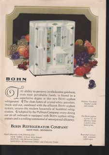 FA 1925 BOHN REFRIGERATOR KITCHEN FOOD FRUIT ST PAUL COLD