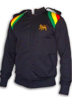 Rasta Reggae JACKET Army Conquering Lion Of Judah Embroided Black UK