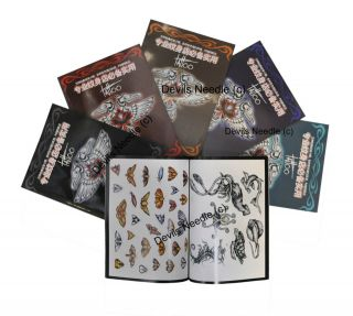 Mixed Tattoo Flash Book Set   5 Books   (Large Mixture of Designs)