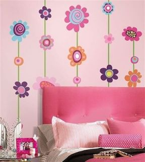 STRIPE 53 Removable Wall Stickers VINE BORDER Girls Room Decor Decals