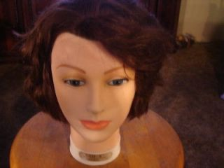 22 Cosmetology Mannequin Burmax head human hair Sam 2 II brown