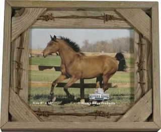 and Barbwire Western Picture Frame 8 x 10   Cowboy Ranch Rodeo Decor