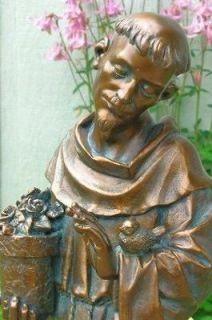 Elegant 16 ST. FRANCIS BIRDFEEDER Garden Statue ~ NEW