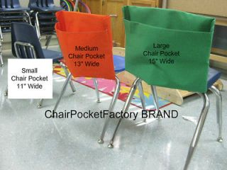 LARGE CHAIR POCKET * SEAT DESK SACK * Fits Chairs 15 WIDE or smaller