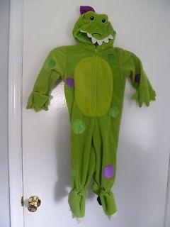 CHILD GREEN VELVET DRAGON HALLOWEEN COSTUME SIZE 48 MONTHS