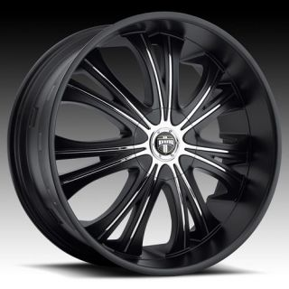 28 DUB Black Mamba Wheel SET 28x9.5 Rims for RWD 5 & 6 LUG 28inch