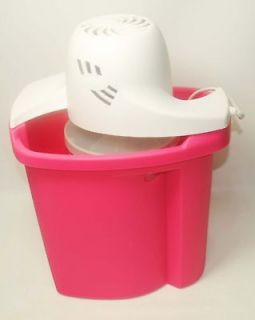 Rival ELECTRIC ICE CREAM MAKER 4 Quart FREEZER PINK Plastic TUB Bucket