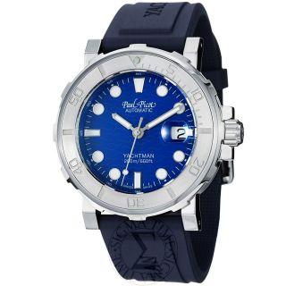 Paul Picot Mens Yachtman Blue Dial Rubber Strap Automatic Watch P1151