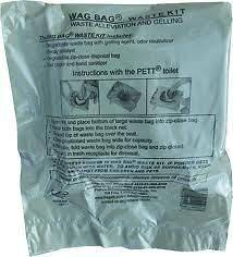 Pett Wag Bags GO anywhere Waste Kits Camp Toilet 100 Pk