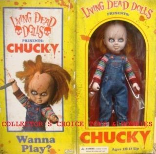 LIVING DEAD DOLLS 10 CHILDS PLAY CHUCKY DOLL NEW IN THE BOX