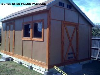 Custom Design Shed Plans, 8x12 Gambrel Wood, Backyard Shed Building