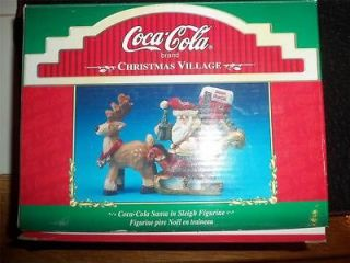 COCA COLA CHRISTMAS VILLAGE NIB FIGURINE