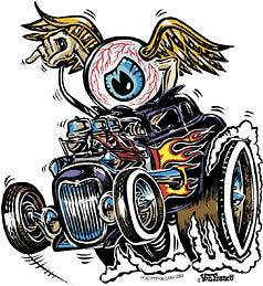 Eye Gone Wild Sticker Decal Kustom Art Von Franco VF4