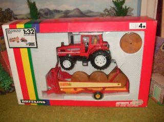 Rare Britains Same 170 Tractor & Krone Round Bale Trailer MIB