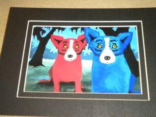 George Rodrigue Blue Dog Copy Notecard Not Framed Matte