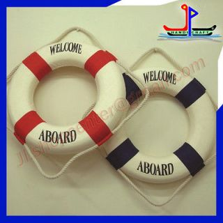 Wall Decoration on Blue Red Lifebuoy Buoy Wall Decor Ship Boat Ring Float Life Preserver