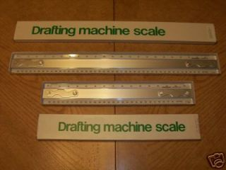 TRACK MARK XII DRAFTING MACHINE TRIANGULAR SCALES RULERS 32 36 42