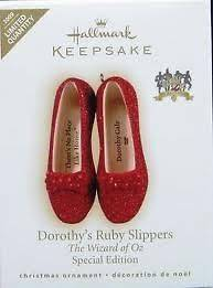 2009 Hallmark Dorothys Ruby Slippers LIMITED The Wizard of Oz