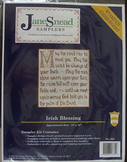 Jane Snead Samplers 364 Irish Blessing Vintage Cross Stitch Embroidery