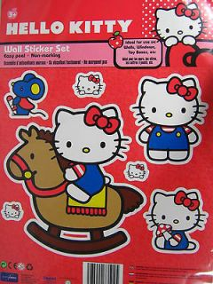 Hello Kitty Wall Stickers Decal Girls Gift Room Decoration Licensed
