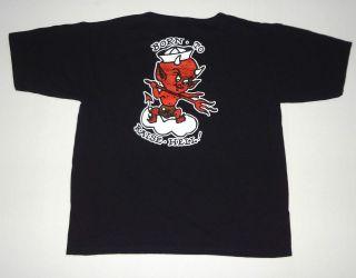 Sailor Jerry Born To Raise Hell T Shirt Tee Black M Devil Spiced Rum