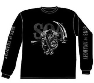 Sons of Anarchy {SOA REAPER} License SAMCRO Black Layered T Shirt