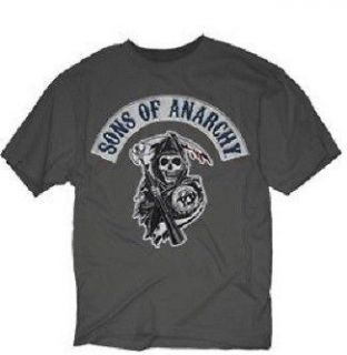 SONS OF ANARCHY ROCKER PATCH LOOK SAMCRO SOA SHIRT 3XL