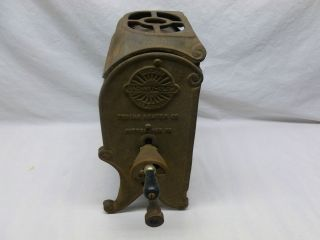 Antique Primitive Cast Iron Tobias #9 Gas Space Heater Stove Cottage
