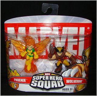 Marvel Superhero Sqaud PHOENIX & WOLVERINE Brown Costume Figure Set