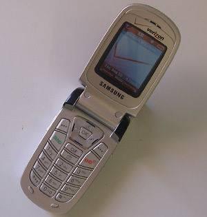 SAMSUNG SCH A850 VERIZON CELL PHONE + HOME CAR CHARGR