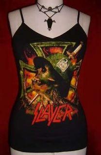 SLAYER diy cami tank top thrash speed metal shirt XS S M