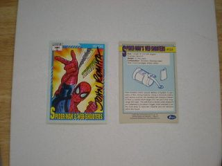 1991 MARVEL UNIVERSE SPIDER MANS WEB SHOOTERS CARD SIGNED JOHN ROMITA
