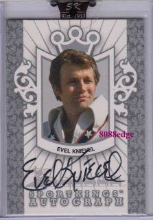 2007 SPORTKINGS A AUTO SILVER EVEL KNIEVEL /99 AUTOGRAPH MOTORCYCLE