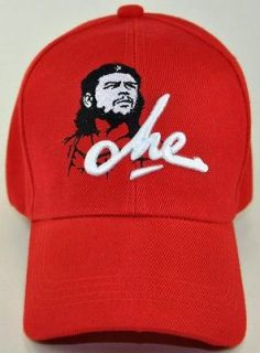NEW CHE GUEVARA CHE BALL CAP HAT RED