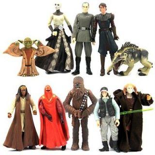 LOT 10 Star Wars Yoda Anakin Skywalker SAESEE TINN Eeth Koth Red Royal