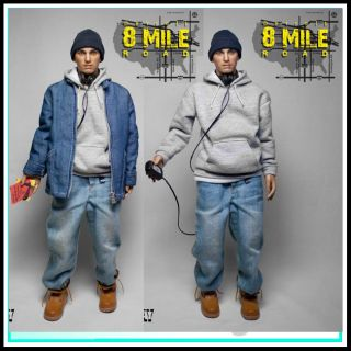 Subway Custom EMINEM 1/6 DETROIT 8 MILE ROAD Hip Hop action figure
