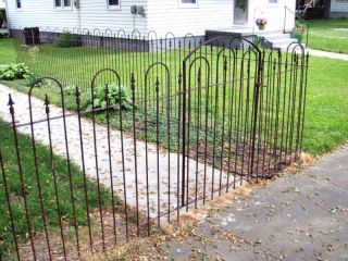 Metal Wrought Iron Gate Goes With 4 Fence   Fencing