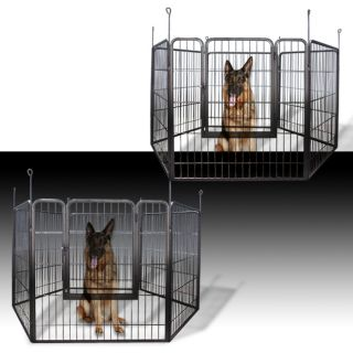 Duty Cage Pet Dog Cat Barrier Fence Exercise Metal Play Pen Kennel