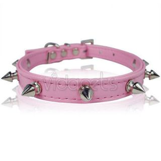 pink spiked dog collar in Spiked & Studded Collars