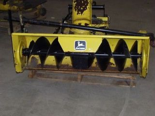 JOHN DEERE 46 SINGLE STAGE SNOW THROWER COMPLETE QUICK HITCH WEIGHTS