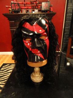 Kane Classic Mask With Hair/Wig Vintage WWE Halloween Rare Collectible